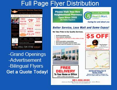Flyer Distribution Marketing Corona Riverside